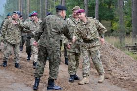 British Army's rapid reaction force jump into Poland: Ex Anakonda, 2 October 2014.