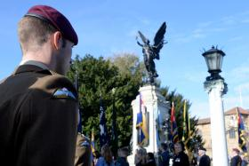 16 Air Assault Brigade and Colchester Garrison mark Remembrance Sunday, 9 November 2014.