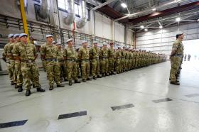 Apache regiment marks its final homecoming from Afghanistan, 13 November 2014.