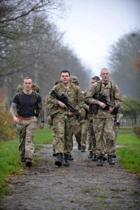 Members of 3 Regt AAC take part in the Rhino Trophy contest, November 2014.