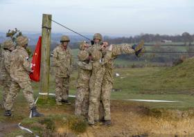 Troops tested on their patrolling skills in festive challenge, 10 December 2014.