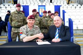 Colchester United signs the Armed Forces Corporate Covenant, 14 March 2015.