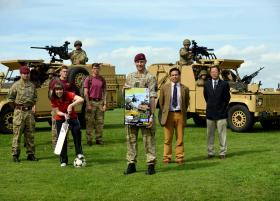 Free Army show in Colchester to support Nepal earthquake relief, 4 July 2015.