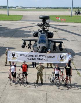 Bikes to replace Apaches on Wattisham's runway, 9 September 2015.