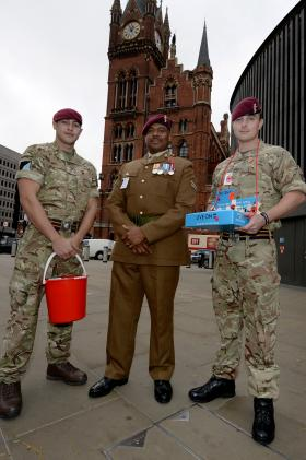 16 Air Assault Brigade are taking part in The Royal British Legion's London Poppy Day, 29 October 2015.