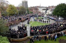 16 Air Assault Brigade marks Remembrance Sunday, 8 November 2015.