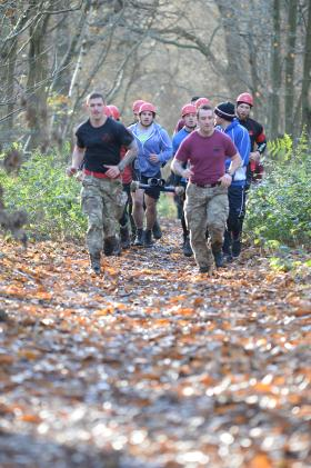 The Salford Red Devils rugby league team put through its paces by The Parachute Regiment, December 2015.