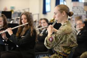 PARA Band gives youth band insight into military music, February 2016.