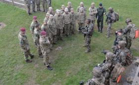 Airborne infantry make French connection, April 2016.