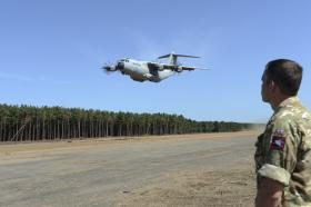 Airborne Sappers' give soft landing to A400M