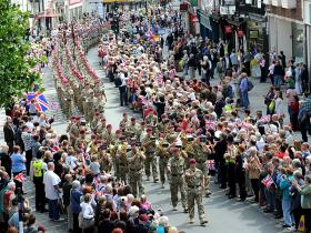 Colchester welcomes back members of 16 Air Assault Brigade after returning from Op Herrick XIII