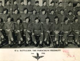 Crop from group photograph of 17th Bn ,Jan 1946.