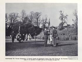 17 PARA (TA) Colours presentation ceremony, Brancepeth Castle 1952.