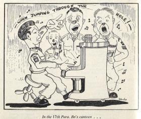 17th Parachute Battalion Cartoon