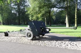 17 Pounder on display at the Airborne Museum, Hartenstein, 2011.