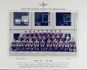 Group Photograph of the Officers' Mess, the Airborne Forces Depot, 1980