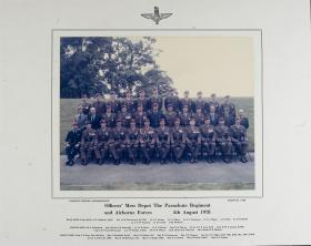 Group Photograph of the Officers' Mess, the Airborne Forces Depot, 1978