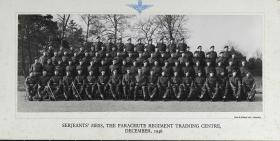 Group Photograph of the Sergeants' Mess, The Parachute Regiment Training Centre, December 1946