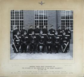 Group Photograph of the Airborne Forces Depot contingent for the Coronation of H.M Queen Elizabeth II, 1953