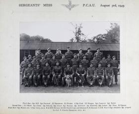 Group Photograph of Sergeant's Mess, Parachute Course Administration Unit, 1949