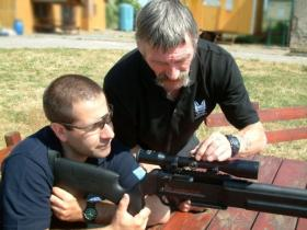 Matt Kindred sniper training with John McAleese MM (ex 22 SAS ), undated.