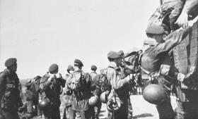 Members of 6th Parachute Battalion enjoying a brew circa 1947