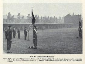 18 PARA (TA) Colours presentation ceremony, Birmingham 1952.