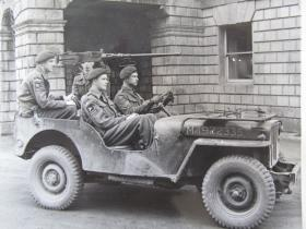 An Airborne Jeep with rear mounted .50 Heavy MG, c.1944