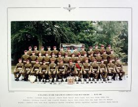 Passing Out photograph of 19 Platoon, Junior Parachute Company, June 1990.