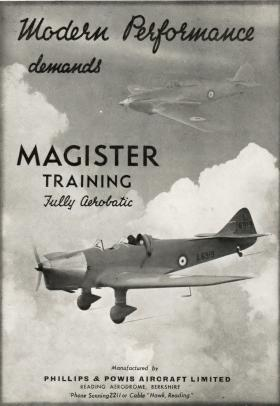 Miles Magister Advert, 1938