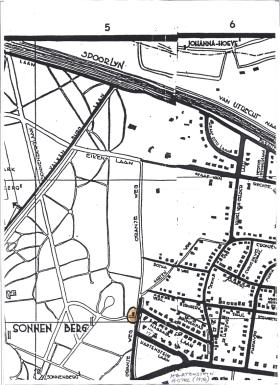 Map of Oosterbeek, showing the Orangeweg RAP circled