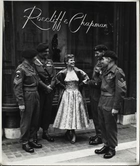 Members of 10th Parachute Battalion (T.A) in London 1950s