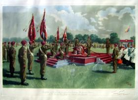 Signed print of 1950 Colours presentation.