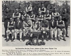 2nd Battalion Boxing Team, Winners of the Army (Egypt) Cup 1953.