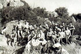 Members of A Coy, 1 PARA, Snake Island, Cyprus, 1956.