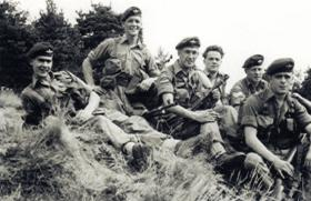 Members of 2 Platoon, A Company, 1 PARA, relaxing,  England, c1957.