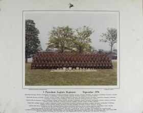 Group Photograph of 1 Parachute Logistic Regiment, September 1976