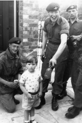 Guards Para soldiers in the Pirbright area, 1962