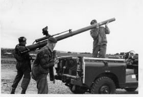 Guards Para Company Anti Tank Patrol unload 106mm Anti-Tank Gun, 1963