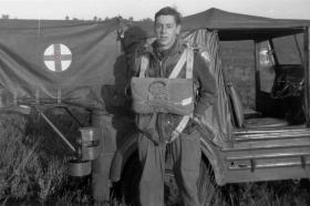 Dick Cole waiting to jump, Hankley Common, October 1964
