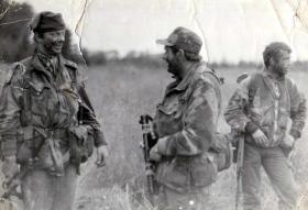 Lt Law, Capt Harding and Cpl Keddie, 1 Coy, 10 PARA, Vogelsang, 1977.