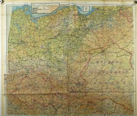 Map Silk of Germany (Side 1)