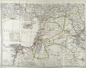 Map Silk of the Levant and Iraq