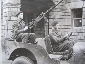 .50 Heavy MG on rear of Airborne Jeep, c.1944