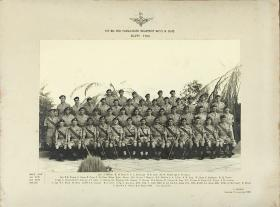 Group photograph of 1st Battalion Sergeants Mess, Moascar, Egypt, 1953