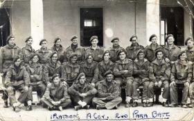 Group photo of 1st Platoon, A Company, 2nd Para Bn taken at Barletta, Italy, 1943.