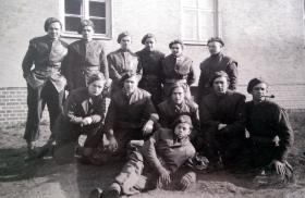 Group photo of members of the 1st Polish Independent Parachute Brigade, date unknown.