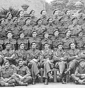 Extract from Group photo of A Coy 2nd Para Bn,  in 1944