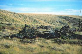 2 PARA Mortar line - base of  Sussex Mountains
