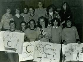 Group photo for the 2 PARA Wife's Club Olympics winners, Northern Ireland, June 1980
